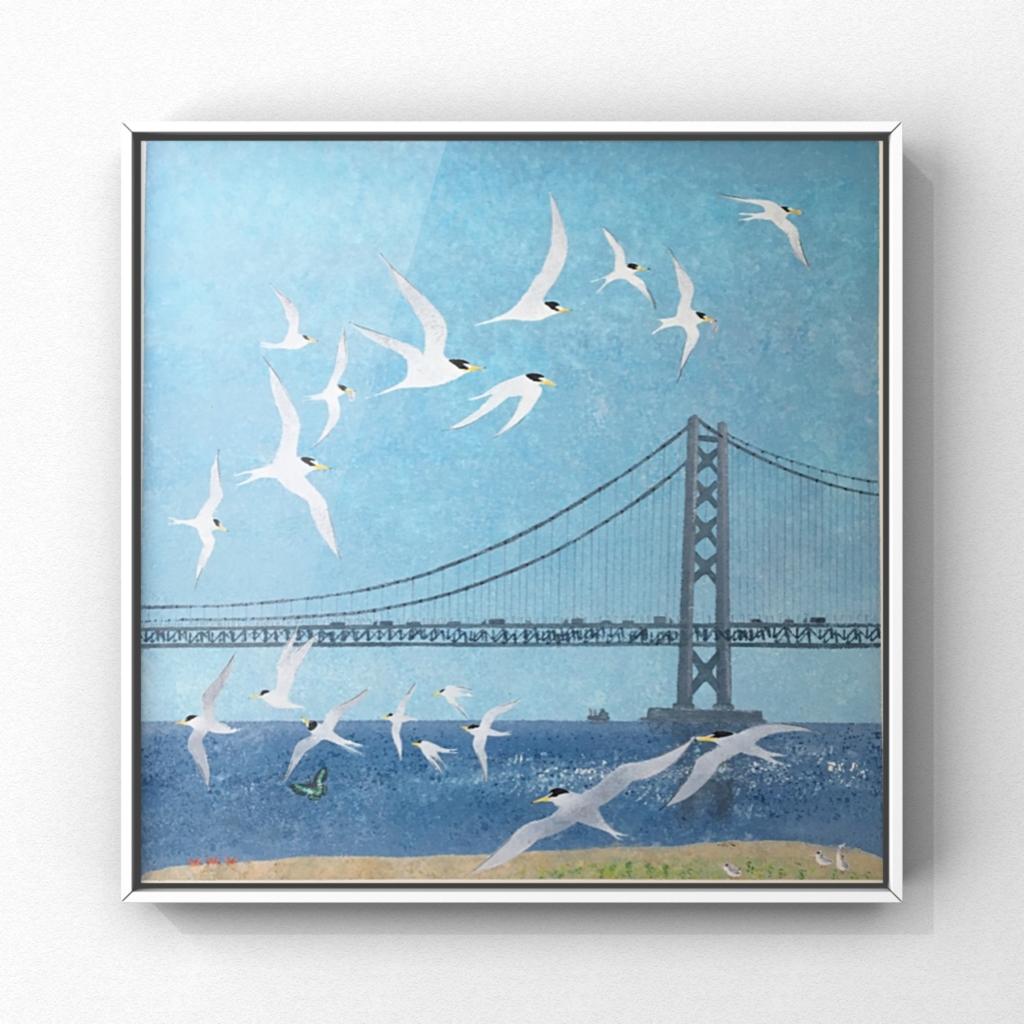 タイトル「明石海峡大橋を渡るのは・・・」