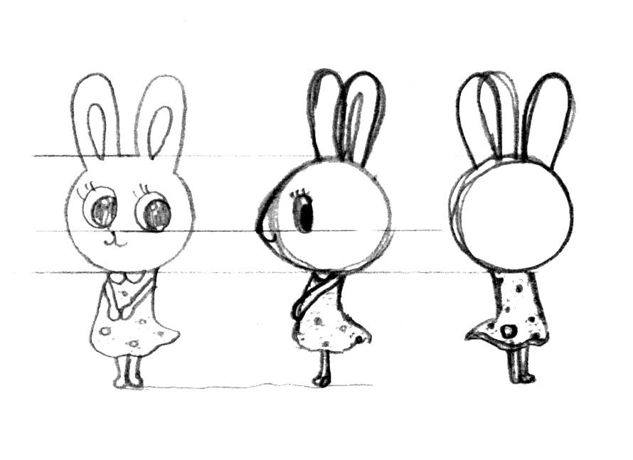 動物キャラクターのウサミーちゃん
