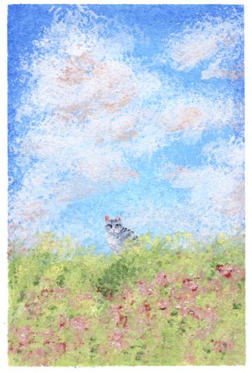 タイトル「印象 ネコのいた景色」