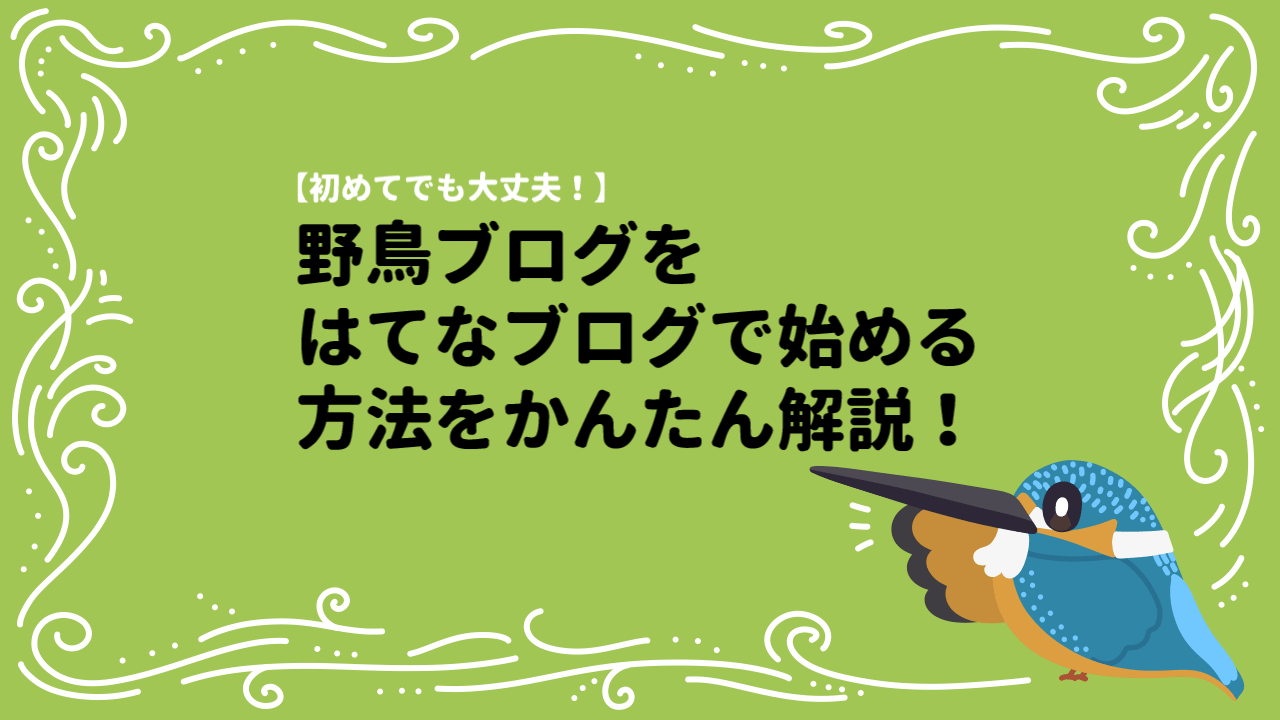 はてなブログで野鳥ブログを始める方法をわかりやすく解説!【画像あり】