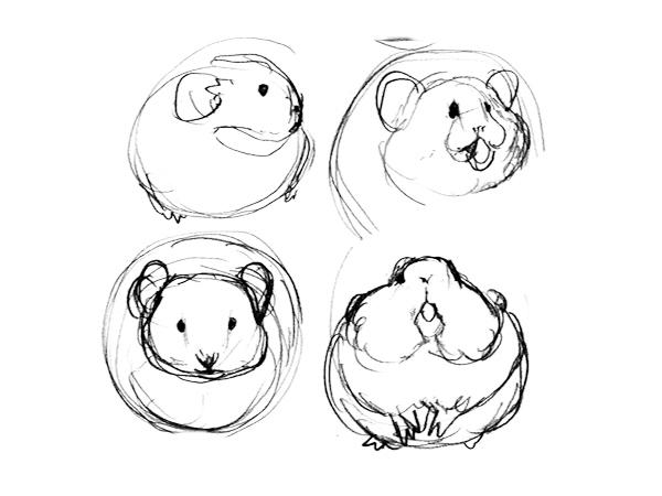 エゾナキウサギを描こうーとりあえず描く