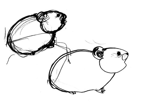 エゾナキウサギを描こうー別パターンを考えてみる