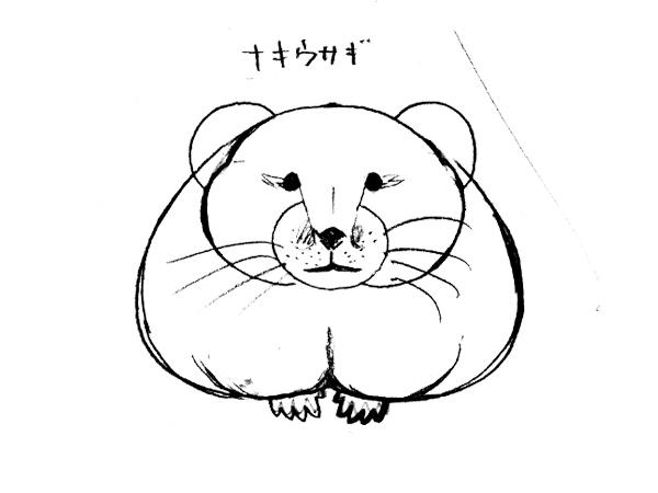 エゾナキウサギを描こうー下絵の完成!!