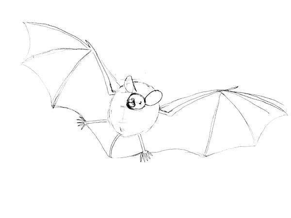 コテングコウモリの描き方ー線を綺麗にしてみる