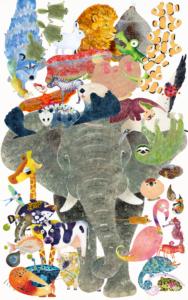 動物大集合壁紙一例