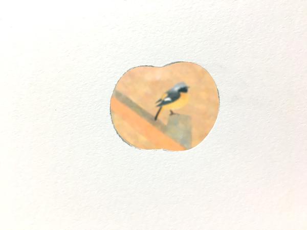 スポンジでリンゴを描いてみる~図案を切り取る~