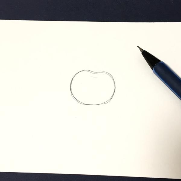 リンゴの形を描く
