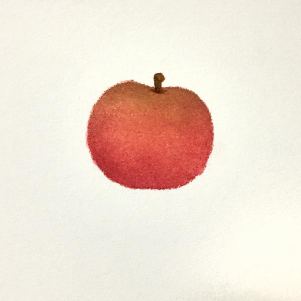 リンゴが描けました。