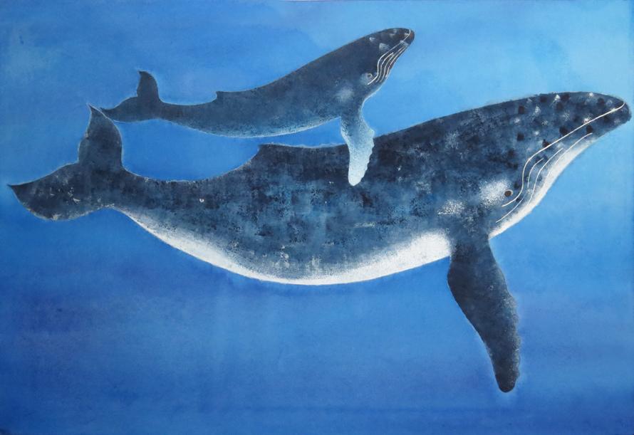 ザトウクジラの絵